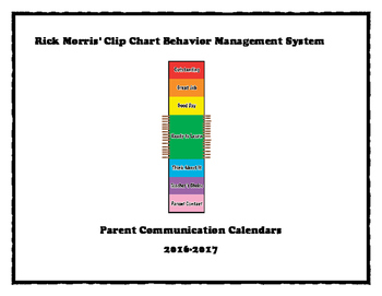 Rick Morris' Clip Chart Behavior Management System 2016-2017