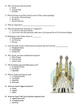 Rick Steves Barcelona and Catalunya - Video worksheet