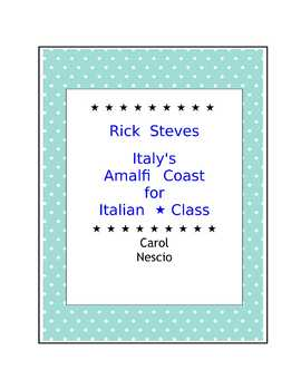 Rick Steves ~ Italy's Amalfi Coast For Italian * Class