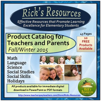 Rick's Resources Catalog Fall 2015