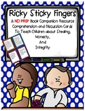 Ricky Sticky Fingers Book Companion Discussion Comprehension Cards