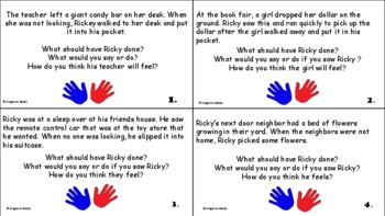 Ricky Sticky Fingers Social Skill Activities about Stealing