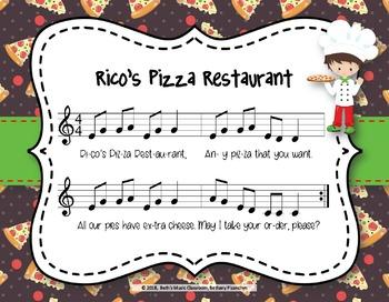 Rico's Pizza Restaurant - Folk Song, Call and Response, So-Mi