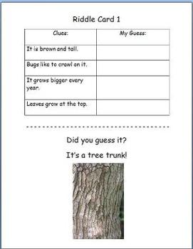 Riddle Cards - Living Things  Fun Way to Teach Inference