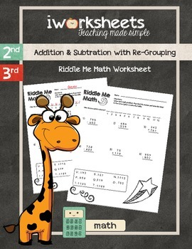 Riddle Me Math Worksheets - Addition and Subtraction with