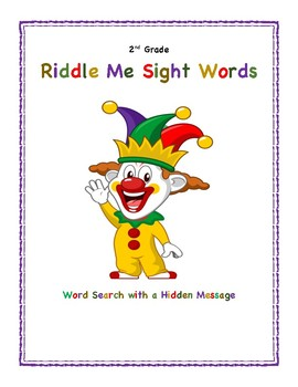 Riddle Me Sight Words: Word Search with a Hidden Message