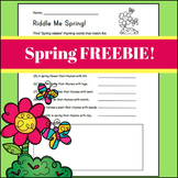 Riddle Me Spring - Rhyming Activity
