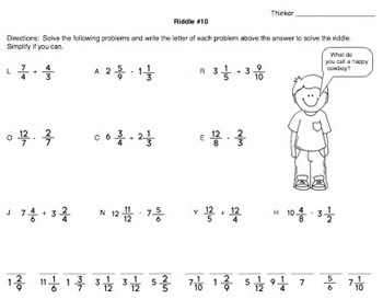 Riddle Me This Fractions