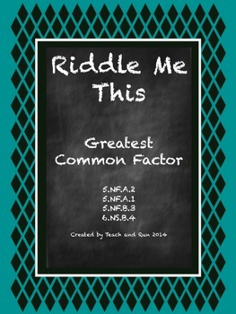 Greatest common factor worksheets grade 6