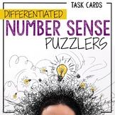 48 Number Sense Task Cards: Problem Solving Riddles for Place Value