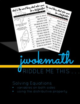 Riddle Me This! -- Multi-Step Solving Equations