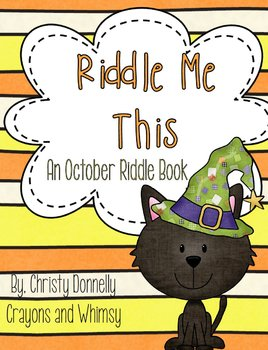 Riddle Me This {October Themed Riddle Book}