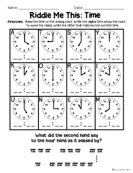Riddle Me This - Time to the Hour