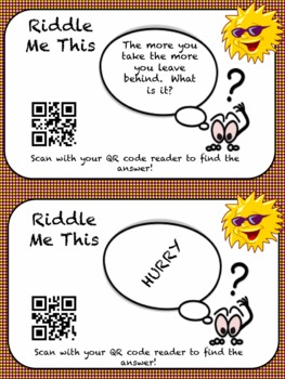 Riddle Me This with QR codes