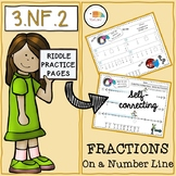 Riddle Practice Pages/ 3.NF.2/ Fractions on a Number Line