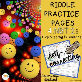 Riddle Practice Pages...  Expressing Numbers...  4.NBT.2 Part 1