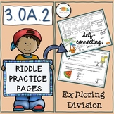 Riddle Practice Pages Exploring Division Part One 3.OA.2