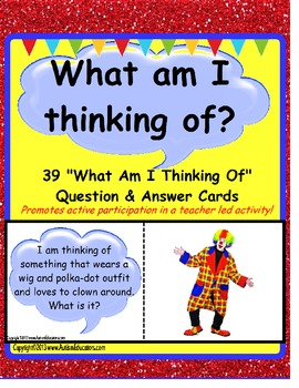 Riddle Question Cards Picture Answers Activity {Kindergart