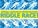 Riddle Race - Decimal Addition, Subtraction & Multiplication
