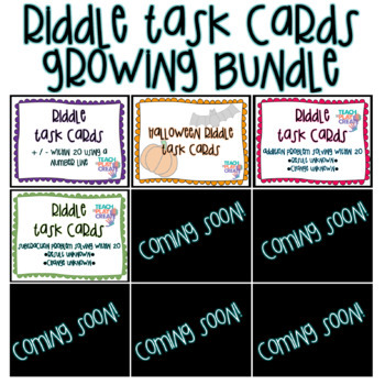 Riddle Task Cards BUNDLE
