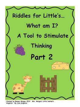 Riddle for Little's...Part 2    A Tool to Stimulate Thinking