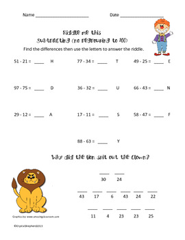 Riddle me this Subtraction big pack
