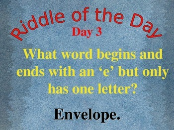 Riddle of the Day