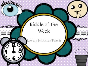 Riddle of the Week