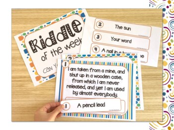 Riddle of the Week Classroom Posters