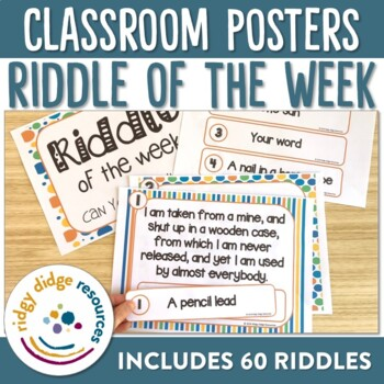 Riddle of the Week Classroom Decor Posters