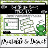 Riddle the Room: Fractions and Decimals: TEKS 4.3G