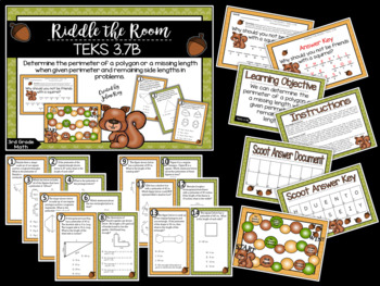 Riddle the Room: Perimeters and Missing Sides: TEKS 3.7B