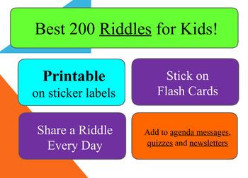 Best 200 Riddles! Printable on Sticker Labels