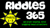 Riddles 365 Bundle - Riddles, brain teasers, brain breaks and challenges