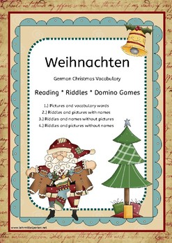 Riddles & Dominoes: German Christmas Vocabulary Words