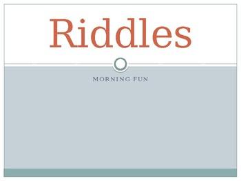 Riddles For Morning Work