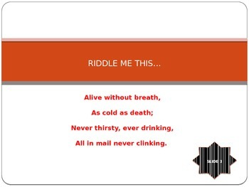 Riddles Introduction and Activity Powerpoint