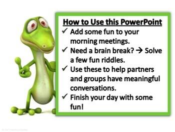 Riddles - Morning Meeting/Brain Break