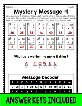 Mystery Messages Riddles