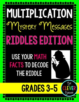 Mystery Messages Riddles - Multiplication Facts