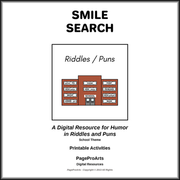 Riddles/Puns School Themed Activities - Smile Search