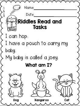Riddles Read and Tasks Set 3