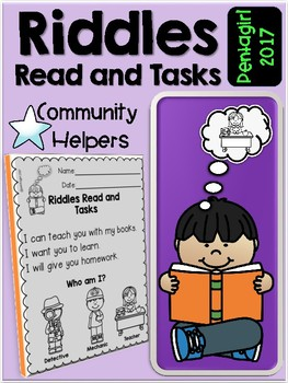 Riddles Read and Tasks Set  5 Community Helpers