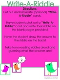 Riddles: Write-A-Riddle LoveBirds Activity!