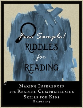 Riddles for Reading FREEBIE: Make Inferences & Improve Reading Comprehension