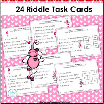Math Logic Task Cards for Two-Digit Numbers