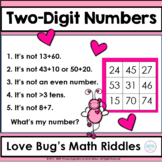 Valentine Riddles for Two-Digit Numbers ~ Love Bug's Secre