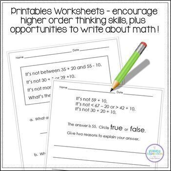 Two-Digit Numbers Math Logic Task Cards Groundhog Day