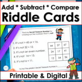 Pirate Day Two-Digit Numbers Addition, Subtraction, Place Value Task Cards
