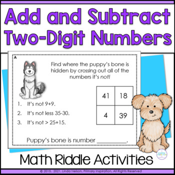 First Grade Two-Digit Numbers RTI Math Riddle Task Cards